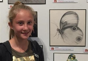 "Pupil's ""simply fantastic"" Drawing exhibited at prestigious London Galleries"
