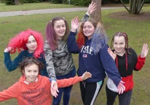 Pupils have a Bad Hair Day to raise nearly £700 for Charity