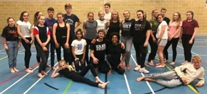 Students receive Modern Dance Lessons from award-winning visiting Dancers