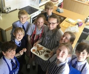 Pupils eat Ant Biscuits and Pizza with Scorpion Topping