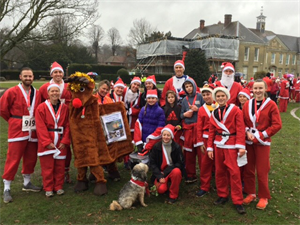 Good turnout for Dunottar at YMCA Santa Run