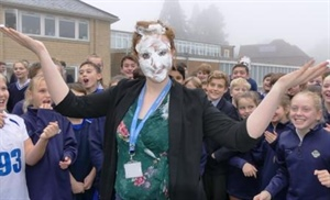 Pupils splat Teachers to raise more than £500 for Children in Need