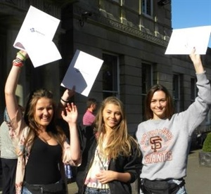 Students Celebrate As and A*s with GCSEs