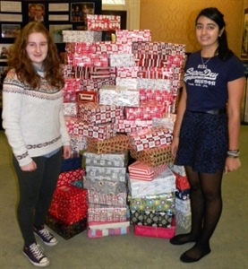 Students Donate Over 100 Boxes to Charity Appeal