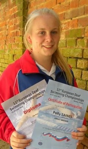 Saines Swims for England in Russia